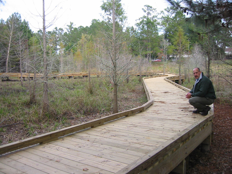 how to build a wetland boardwalk